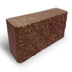 Блок колотий парканний коричневий
