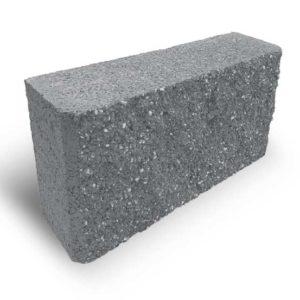 Блок колотий парканний сірий